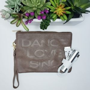 Under One Sky Brown Wristlet Portable Charger